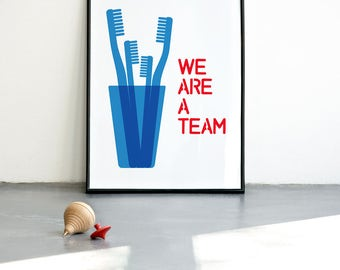 We are a team (4 family). Digital Print in blue. Choose your size