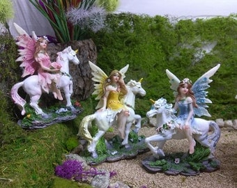 Whimsical Fairies and Unicorns for Magical Fun in the Fairy Garden or Doll House