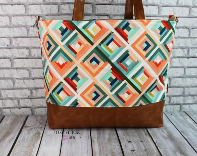 Extra Large Lulu Tote - Roadway - READY to SHIP