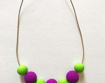 Colorful Geometric Necklace Modern Minimalist