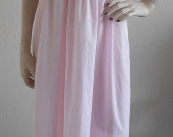 Vintage Nightgown Sears Cotton Blend Large Sundress Lounge Wear