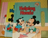 3 Disney Babies Books, Board Books, 1991, Helping Hands, They're My Blocks, Me Too! All Like New