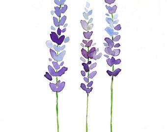 Lavender Print - Lavender Decor - Lavender Wall Art