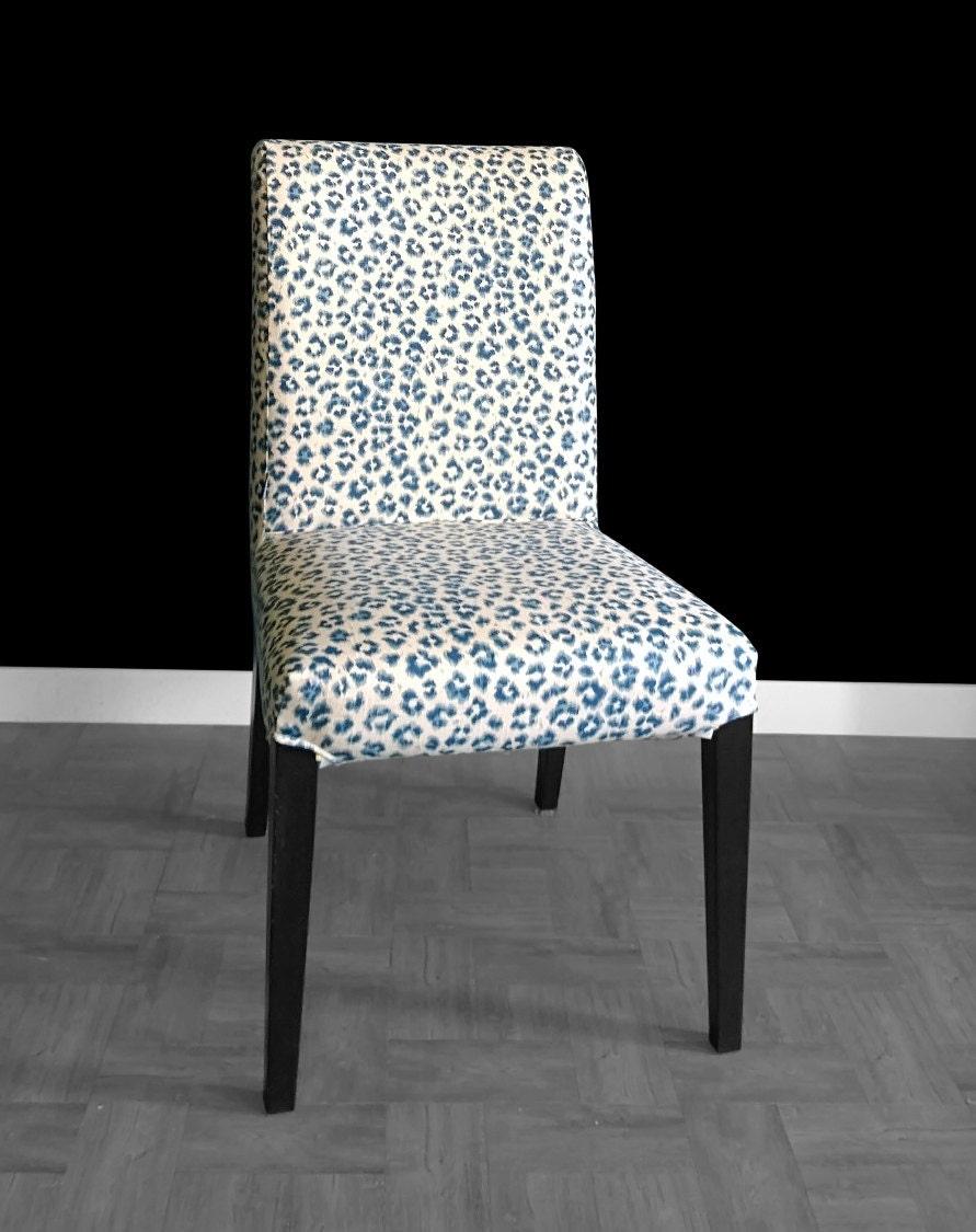 Navy Leopard Print IKEA HENRIKSDAL Chair Cover