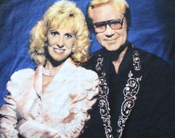 Vintage George & Tammy One Album Tee Size Large 1995