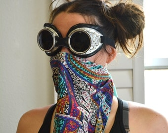 Colored Paisley Face Mask/ Burning Man Dust Masks/ Festival Masks/ Dust Masks/ Fashion Masks/ Face Masks