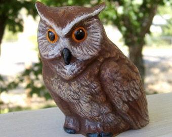 Owl, ceramic owl, figurine