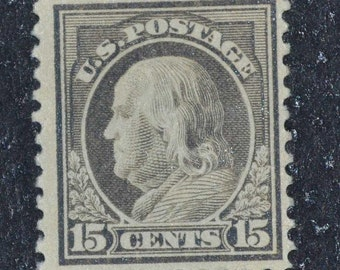 US stamp 15 cent Ben Franklin #514 MNH  1917