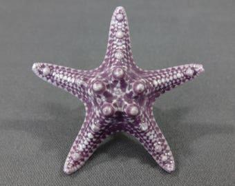 """Starfish Ring Porcelain Knobby Starfish 1 3/4"""". Starfish Jewelry. Mermaid Ring. Adjustable Ring. Nautical Ring. Beach Wedding. Sea Star"""