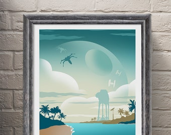 Poster Art Print, Star Wars Rogue One Movie Poster, Wall Art, Minimalist Poster