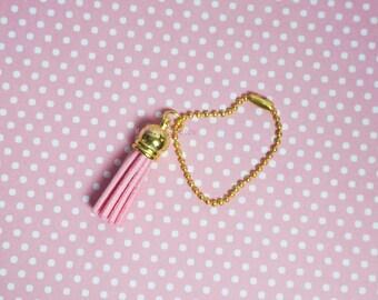 Gold Pink Tassel Planner Charm - Filofax, Kikki K, Stationery