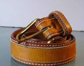 Vintage Frye Leather Belt Size Size 30