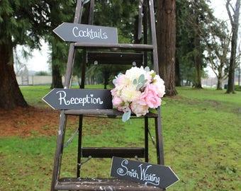Wooden Arrow Signs, Rustic Wedding Chalkboard Sign, Rustic Arrows, Directional Sign for Weddings, Wedding Direction Sign, Reception Signs
