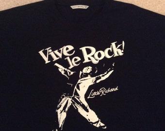 "Vive Le Rock - Little Richard -  T-shirt - Seditionaries Punk Rock Disco -Black Tee - screenprint-unisex -5XL - 50"""