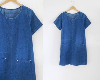 90's denim sac dress