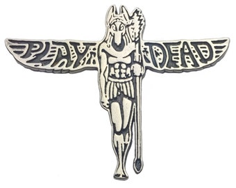 Grateful Dead Play Dead Anubis 925 Silver Lapel Hat Pin