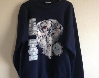 Vintage Penn State Nittany Lion Football Player Crewneck Sweatshirt