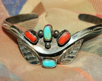 EARLY NAVAJO CUFF Sterling c1950