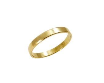 14K  wedding band. Thin gold wedding ring. Square ring. men wedding ring. women wedding ring. Unisex ring (2137)