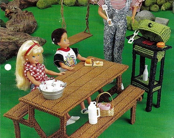Picnic Time: Annie's Fashion Doll Plastic Canvas Club Barbie Furniture Pattern FP32-01