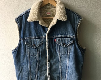 Levi's Sherpa Vest - Vintage 1980s - Refashioned by Wild Together