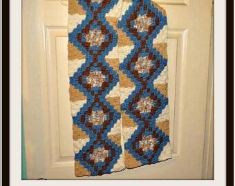 EDNA  Scarf, C2C Graph, Crochet Pattern