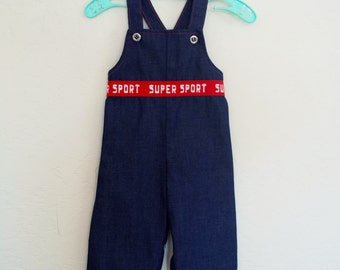 Vintage Overalls Baby Clothes Health-Tex