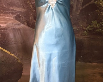Vintage Light Blue Evening Dress By Jessica McClintock for Gunne Sax Size 7