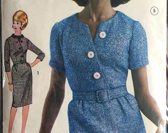 """1960's Butterick One-Piece Mod Career Dress Pattern - Bust 32"""" - No. 3112"""