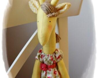 Big stuffed Giraffe - cute giraffe doll named Eva toy - gift for a girl