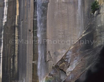 Yosemite Waterfall California Vernal Falls Travel Photography Nature Photography, Original signed matted 7x10 photograph