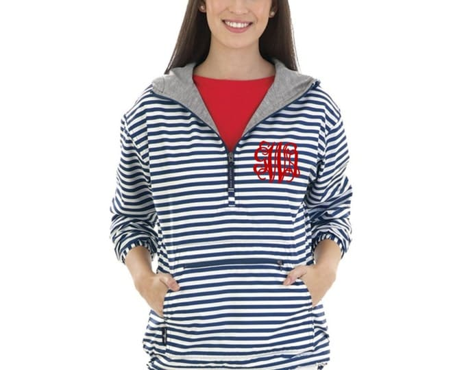 Monogrammed Chatham Rain Jacket, Anorak Jacket, Bridesmaid gifts, Cheer jacket, Charles River Chatham Anorak Rain Jacket