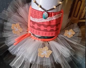 Moana Top and Skirt Costume Girl Tutu Dress