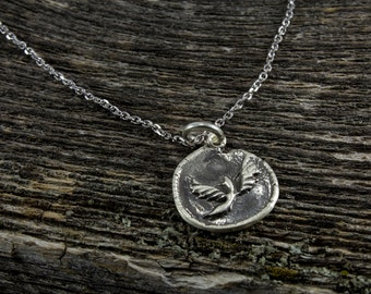 Handmade Sterling Silver Magpie Totem Necklace