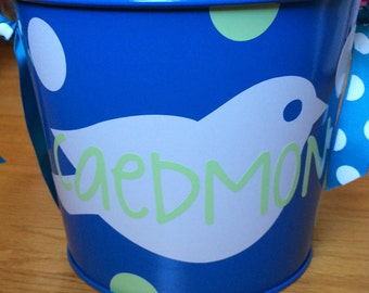 5 Qt Personalized Metal Easter Bucket