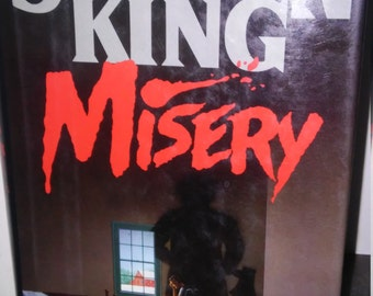 Vintage Stephen King Misery Hard Cover 1987  Book HCDJ early edition