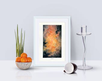Pisces, Zodiac Sign, Watercolor Print, 5x7, 8x10, Wall Art, Galaxy, Constellation, Stars, Astrology, Astronomy, Gift, Giclee Print