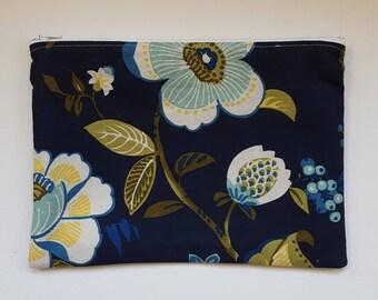 Floral zipper pouch, pencil case