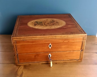 Regency Rosewood Inlaid Work Box