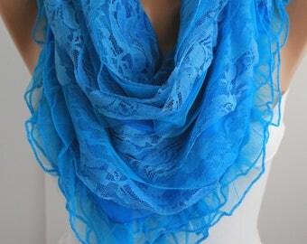 NEW- Blue Scarf  Shawl