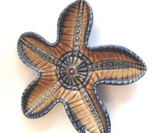 Wade Starfish Dish - Vintage Pin / Trinket Tray. - Wade Starfish - Wade Pottery - Wade Figurines - Wade Pin Tray - Wade Collectibles - Wade