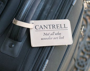 Personalized Luggage Tag, Monogram Luggage Tag, Leather Luggage Tag Luggage Tags Personalized Mr and Mrs Luggage Tag Custom Luggage Tag Gift