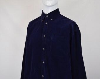 Navy Corduroy Shirt