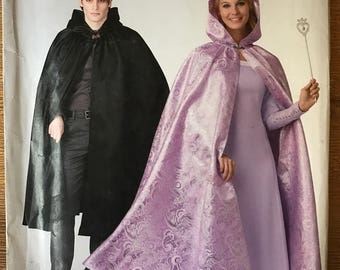 UNCUT Simplicity 0689 Misses', Teen, and Men's Cape Sewing Pattern Size XS-XL Hooded Cape, Halloween Costume, Cosplay
