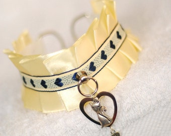 I love my cat - collar for pet-play, age-play, bdsm, lolita, ddlg