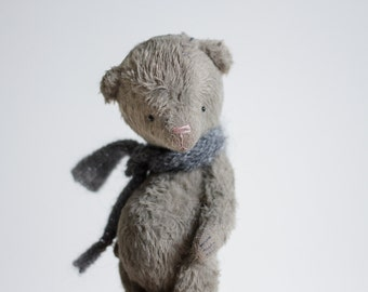 Made To Order Teddy Bear Plush Toy Mohair Artist Bear 7 Inches Woodland Animal Soft Stuffed Animal Sculpture FREE Shipping