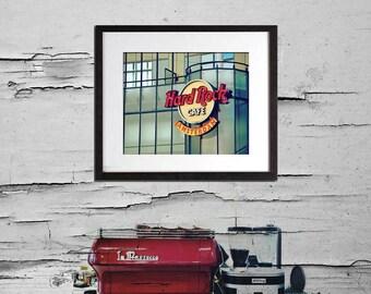 Cafe Art, Amsterdam Print, Cafe Wall Art, Red Kitchen Decor, Travel Photography, Kitchen Art, Cafe Sign, Kitchen Print