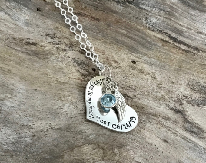 Always in my Heart | Memorial Necklace Sympathy Gift | Bereavement Necklace | Memorial Gift Loss Of Loved One | Sympathy Gifts