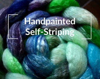Handpainted Self-Striping - Kettle Dyed Hand Painted Spinning Fiber Tutorial
