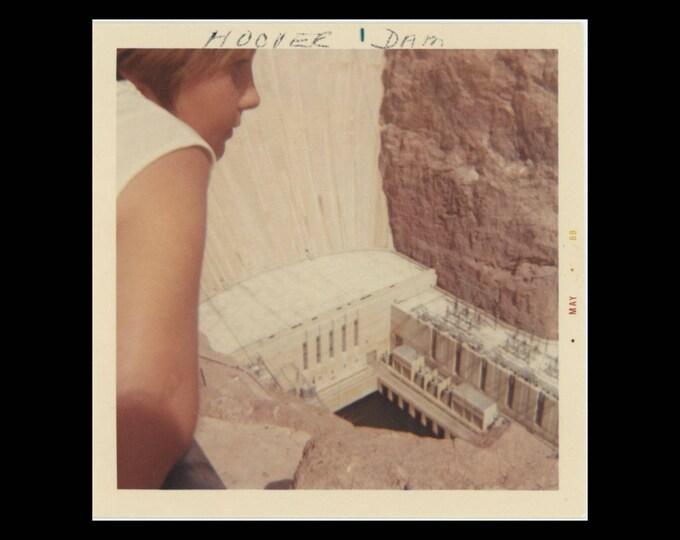 Vintage Snapshot Photo: Hoover Dam, 1969 (74572)